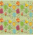 cozy seamless pattern about forest tea vector image vector image