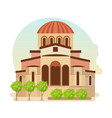 cultural center of byzantium city of greece vector image vector image