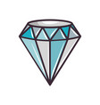 cute blue diamond vector image