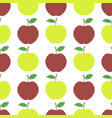 cute fresh red and yellow apple seamless pattern vector image vector image