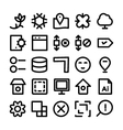 Design and Development Icons 8 vector image