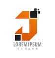 digital pixel initial letter j logo concept vector image vector image