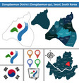 dongdaemun district seoul city south korea vector image vector image