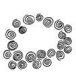 doodle spirals sketch design vector image vector image