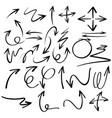 doodles design for black arrows vector image
