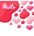 drops of nail polish vector image