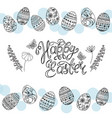 easter eggs and hand-written calligraphic inscript vector image