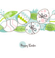 easter eggs pattern happy easter greeting card in vector image vector image