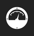 electric meter icon power meter flat on black vector image vector image