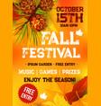 fall harvest festival autumn party banner design vector image