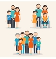 Families of Different Types Flat vector image
