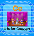 flashcard letter c is for concert vector image vector image