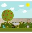 Gardening Flat Background vector image vector image