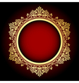 Gold and red frame vector | Price: 1 Credit (USD $1)