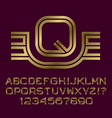 golden letters numbers initial monogram with wings vector image vector image