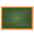 green board with wood frame design vector image vector image