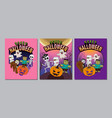 halloween cover banner ghost scary spooky vector image vector image
