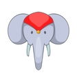 Head of decorated elephant icon cartoon style vector image