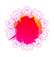 hot colored artistic background vector image