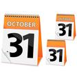 icon calendar for Halloween vector image