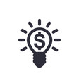 idea is money icon vector image