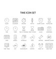 line icons set time pack vector image