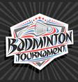 logo for badminton tournament