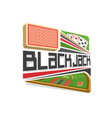 logo for blackjack vector image vector image