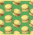 macarons seamless pattern backery or bake shop vector image
