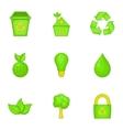 Natural environment icons set cartoon style vector image vector image