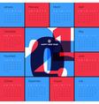new year 2015 calendar vector image