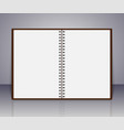 notebook realistic spiral notepad vector image