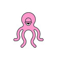 octopus sign icon poulpe symbol sea animal vector image vector image