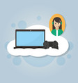 online videogames concept vector image