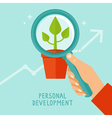 Personal development concept in flat style
