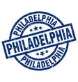 philadelphia blue round grunge stamp vector image vector image