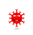 red coronavirus monster vector image vector image