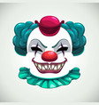 scary circus concept creepy clown mask vector image vector image