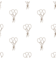 Seamless pattern balloon vector image vector image
