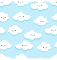 seamless pattern in kawaii style vector image