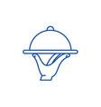 service line icon concept service flat vector image vector image