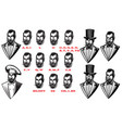 set for man characters speaks animation set of vector image vector image