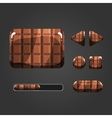 Set of chocolate different buttons vector image vector image