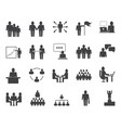 simple set of business people related icons vector image vector image