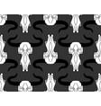 skull cow pattern head of skeleton bull vector image vector image