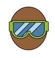 snorkel goggles icon vector image vector image