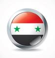 Syria flag button vector image vector image