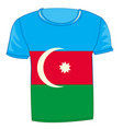 t-shirt with flag azerbaijan vector image vector image