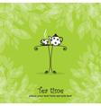 Tea card vector image
