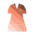 tennis woman uniform icon vector image vector image